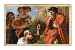Тарквиний Древний вопрошает авгура Аттия Навия