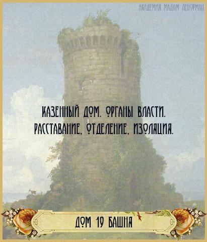 Дом Башни в Большом раскладе Ленорман