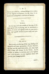 Дом в Книге О трех милых занятных играх, основанных на гадании по кофейной гуще. 1796 год.