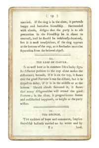 Описание из книги о трех милых занятных играх, основанных на гадании по кофейной гуще. 1796 года.