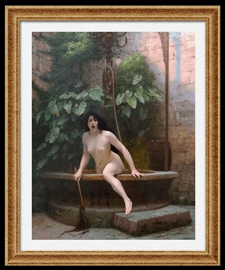 «Истина, выбирающаяся из колодца, вооружённая плетью для наказания человечества» Жан-Леон Жером