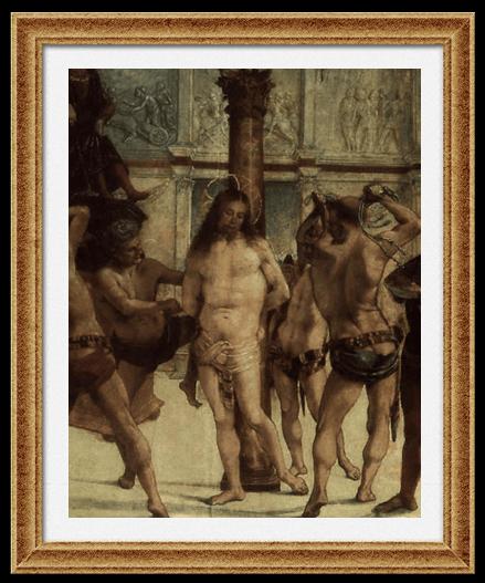 «Бичевание Христа» 1500-е, Уффици, Флоренция