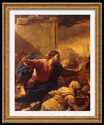 «Изгнание торговцев из храма» 1675. Лука Джордано.