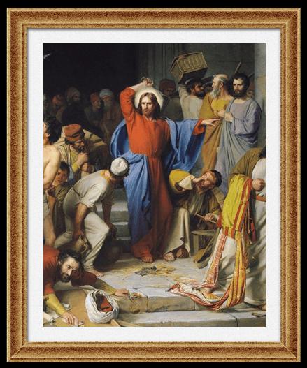 «Изгнание торгующих из Храма» Карл Блох