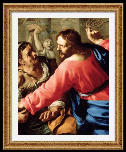 «Изгнание торгующих из Храма» Бернардино Мей