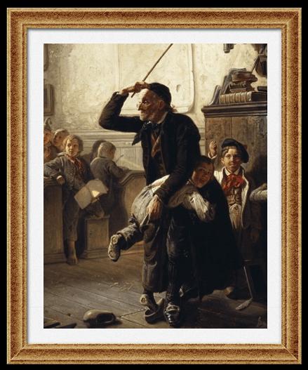 Картина Хансенклевера «Первый День в Школе»