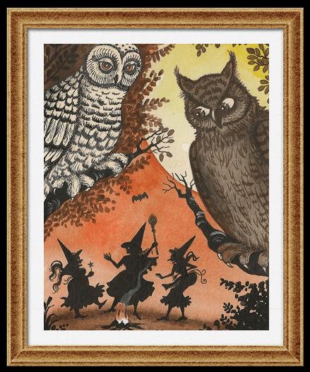 Сова и ночное ведьминское сборище