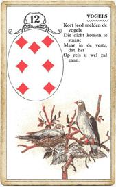 Птицы в колоде Ленорман «Мунди»