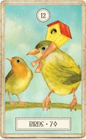 Птицы в колоде Ленорман «Dreaming Way»