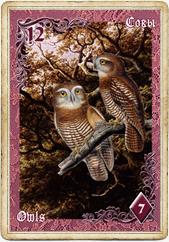 Птицы в колоде Ленорман «Вишневые сумерки»