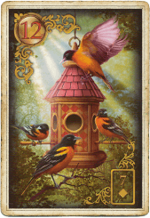 Птицы в колоде Ленорман «Золотые Мечты» Чиро Марчетти
