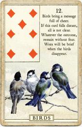 Птицы в колоде Ленорман «Голубая птица»
