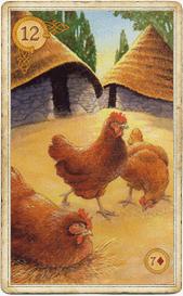Курицы в кельтском оракуле Ленорман