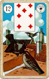 Птицы в колоде Ленорман «АСС»