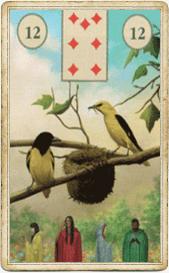 Птицы в колоде «Языческая Ленорман»