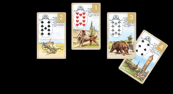Ленорман: Собака, Якорь, Медведь, Башня