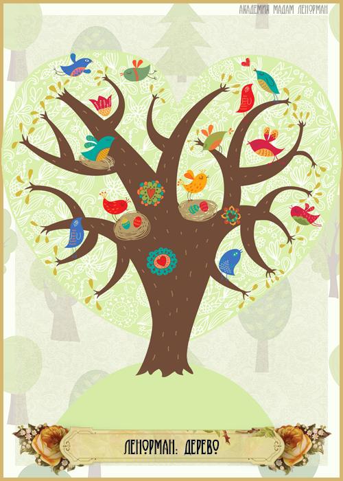Зарисовки Ленорман, Дерево