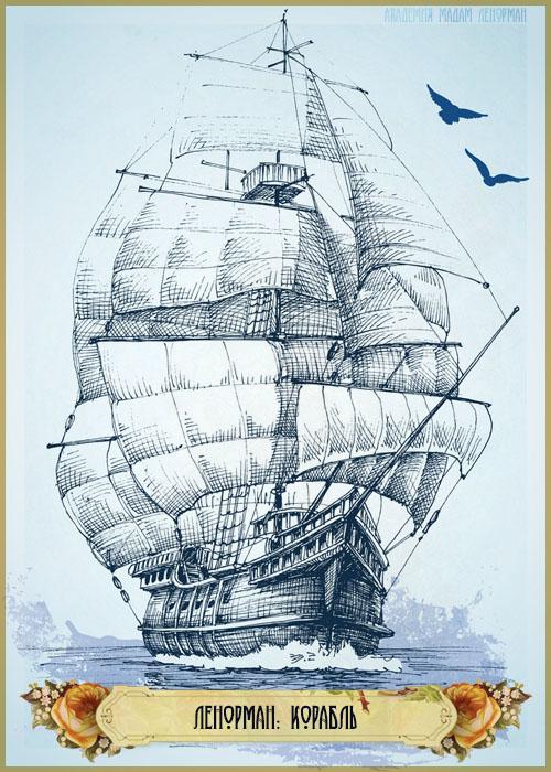 Зарисовки Ленорман, Корабль