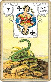 Ленорман Голубая Сова, Змея