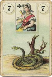 Ленорман Лауры Туан (Дондорф), Змея
