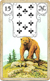 Ленорман Голубая Сова, Медведь