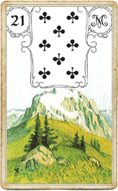 Ленорман Голубая Сова, Гора