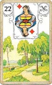 Ленорман Голубая Сова, Развилка