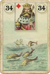 Ленорман Лауры Туан (Дондорф), Рыба