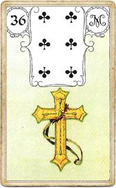 Ленорман Голубая Сова, Крест
