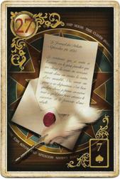 Золотые мечты Ленорман, Письмо