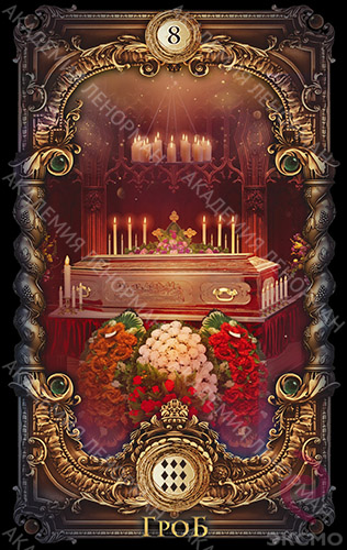 Волшебное зеркало Ленорман, Гроб